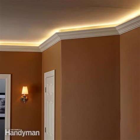led cove lighting strips how to install cove lighting the family handyman