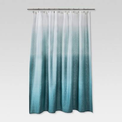 Target Bathroom Shower Curtains Threshold Ombre Shower Curtain Blue Target