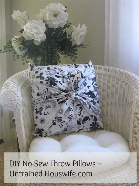 How To Sew A Throw Pillow by Diy No Sew Throw Pillows