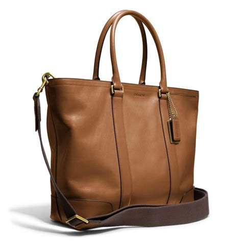 Couture Preppy Sailing Tote Establishment Slouch Bag by Lyst Coach Bleecker Legacy Leather Business Tote In Brown