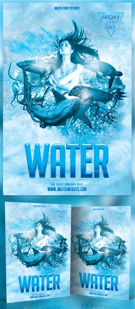 flyer design water water photoshop flyer graphicriver