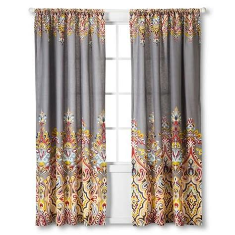 Multi Colored Curtains Drapes Mudhut Imani Curtain Panel From Target Home Accessories