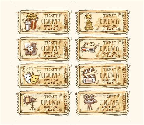 free printable vintage ticket template 8 movie ticket templates free word eps psd formats