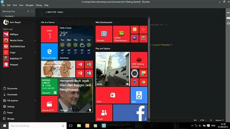 bootstrap tutorial navigation bar bootstrap navigation bar tutorial using bootstrap 3 3 5