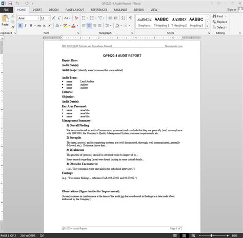 external audit report template how to write a project management report