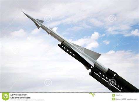Raket Nike A Nike Ajax Missile And Launcher Stock Image Image 10017741