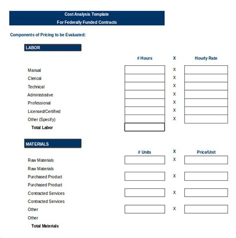vendor comparison template vendor analysis template 6 free word excel pdf format