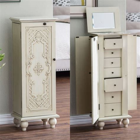 fully locking jewelry armoire armoires awesome locking jewelry armoires design fully