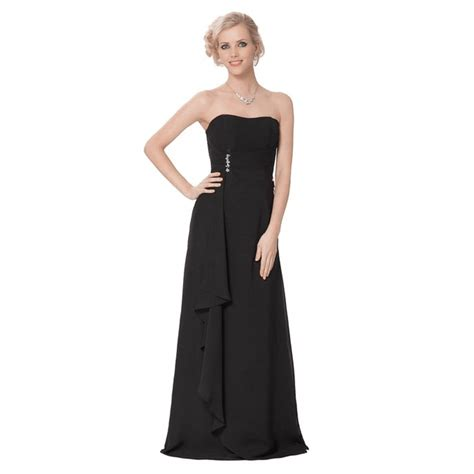 Strapless Bridesmaid Dress strapless chiffon evening black bridesmaid dress