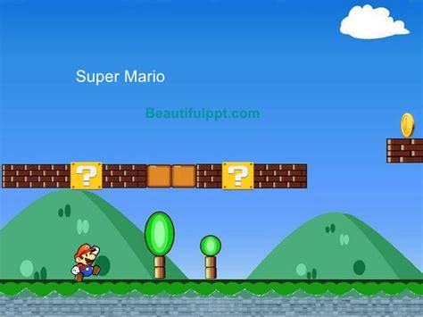 Home Design App Game by Cartoon Powerpoint Template Super Mario