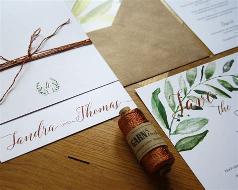 Hochzeitseinladung Kupfer by Hochzeitspapeterie Set Im Modernen Vintage Stil Mit Kupfer