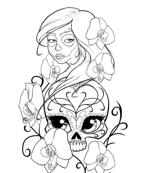 sugar skull coloring pages for girls 4 jpg coloring home