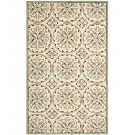Brown And Green Area Rug Safavieh Four Seasons Green Brown 8 Ft X 10 Ft Indoor Outdoor Area Rug Frs218a 8 The Home Depot