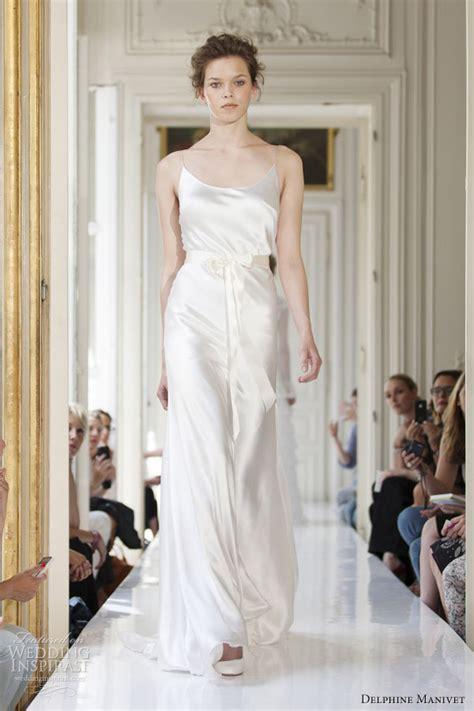 satin silk wedding dresses delphine manivet 2013 wedding dresses wedding