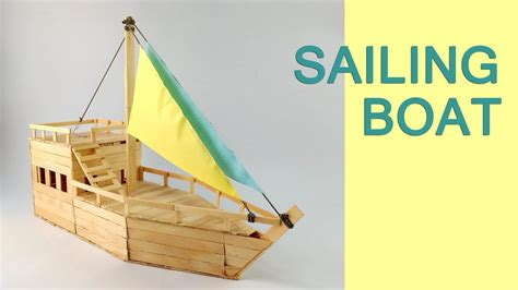 how to make a boat diy diy a boat from popsicle sticks youtube