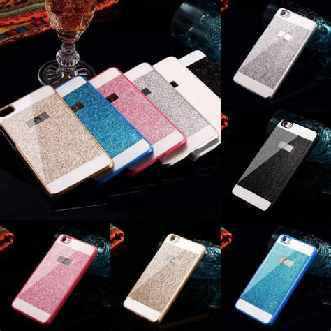 Custom Casing Hp Huawei P8 Lite Photo Cover brand new luxury bling glitter pc back skin cover for huawei p8 lite