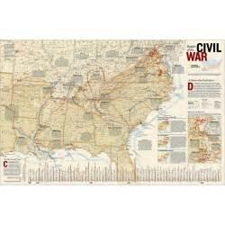 map of civil war battles in us battles of the civil war wall map laminated national