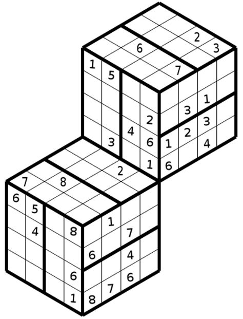 printable double sudoku 3d combined
