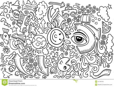 doodle and sketchbook a coloring activity and doodle book for of all ages books doodle sketch drawing vector stock images image 12746164