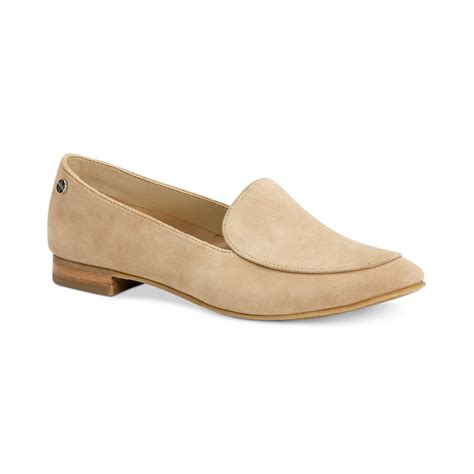 klein loafers calvin klein tacoma loafers in beige desert suede lyst