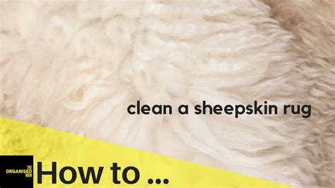 how to clean a rug how to clean a sheepskin rug so easy