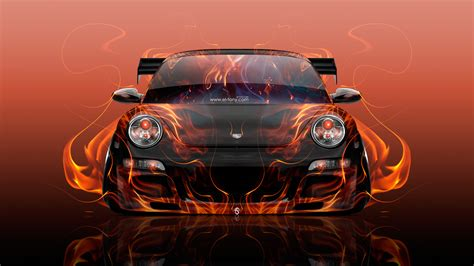red orange cars porsche 911 front fire flame abstract car 2016 wallpapers