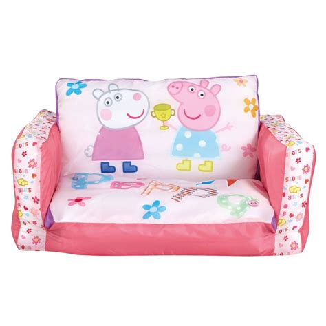 peppa pig couch peppa pig flip out mini sofa kids new 100 official ebay