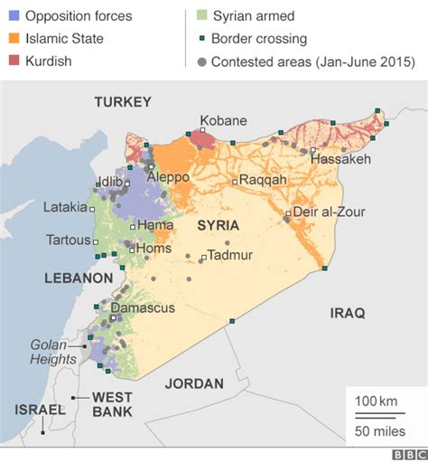 syria on map syria mapping the conflict news