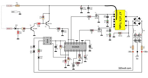 integrated circuit ka3525a dc to dc converter circuit sg3524 sg3525 2x30v electronics projects circuits