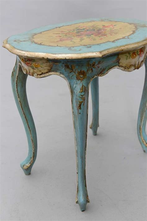 hand painted accent tables hand painted venetian accent table image 7