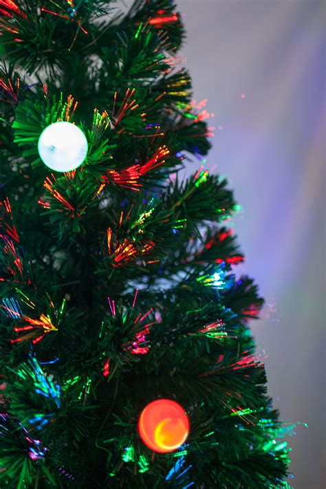 where to buy fiber optic christmas trees 6 ft pre lit multi color led fiber optic tree with topper ebay