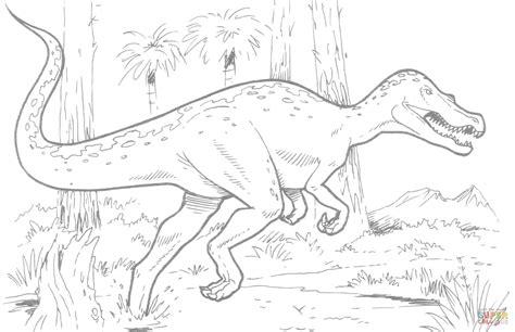 baryonyx dinosaur coloring page free printable coloring