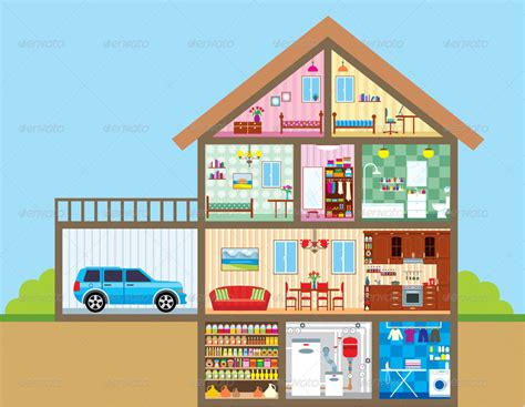 layout of rooms in a house house by gurzzza graphicriver
