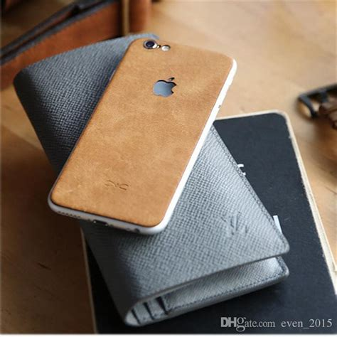 Leather Sticker For Iphone 7 Iphone 7 Plus Murah 2018 real cow leather back sticker for iphone 6 6s plus 7