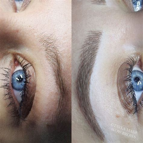 tattoo eyebrows and botox hair stroke feather touch microblading microstroke