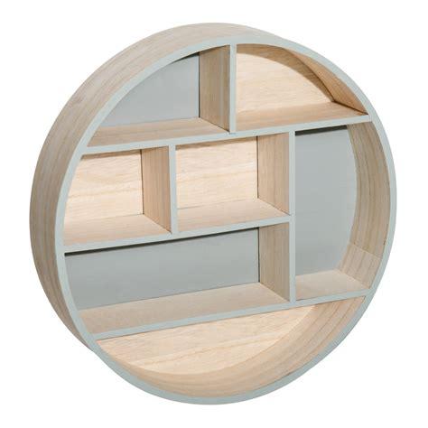mensola muro homcom mensola portaoggetti rotonda a muro in legno legno