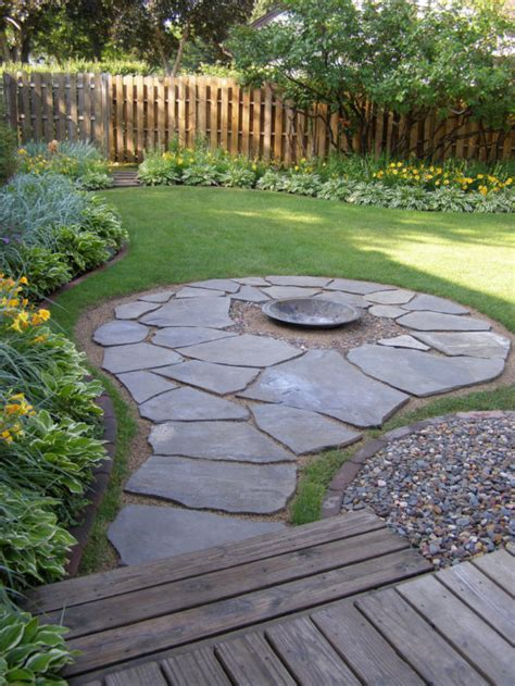 flagstone patio with firepit creative pit designs and diy options