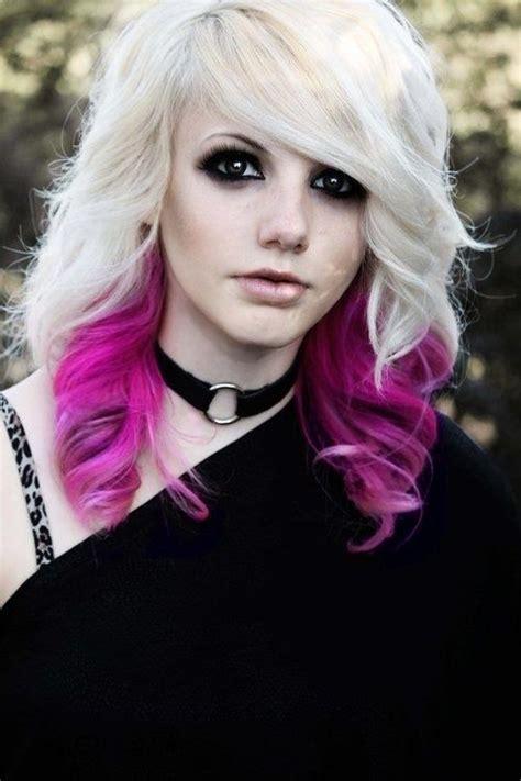 blonde goth hairstyles goth girls goth emo pinterest punky color hair