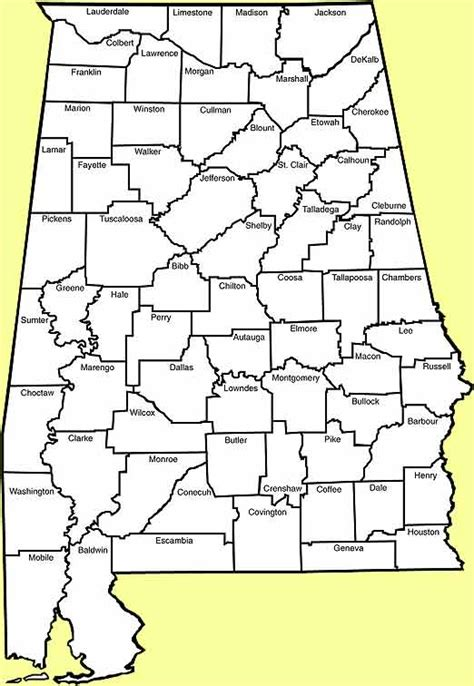 map of alabama counties state of alabama counties