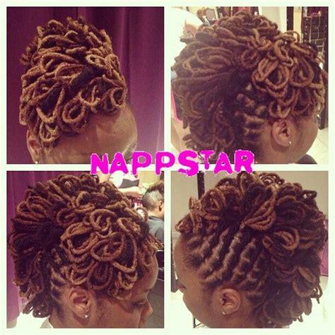 diy loc styles loc petal mohawk diy hair edition locs pinterest