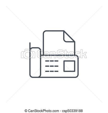fax ufficio lineare ufficio simbolo fax telefono vettore magro