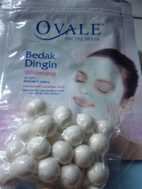 Ovale Bedak Dingin Whitening Dengan Ekstrak Mutiara perawatan wajah dengan ovale masker bedak dingin mariana
