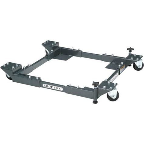 base mobile shop fox d2057a adjustable mobile base heavy duty