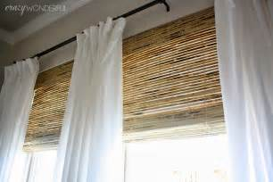 Curtain Rod Inside Mount Crazy Wonderful Bamboo Roman Shades