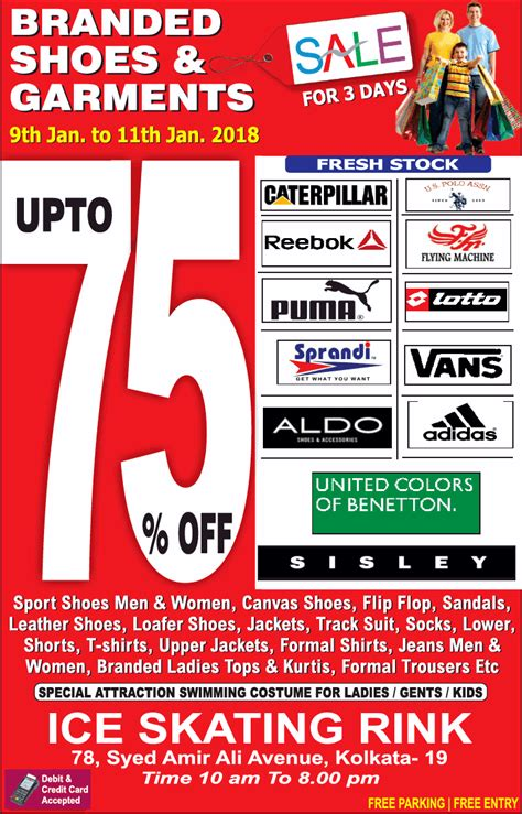 Branded Sales Shoes Pedro Branded skating rink branded shoes and garments sale for 3 days ad advert gallery