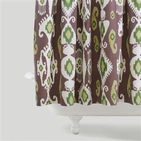 purple green shower curtain purple green ikat shower curtain world market