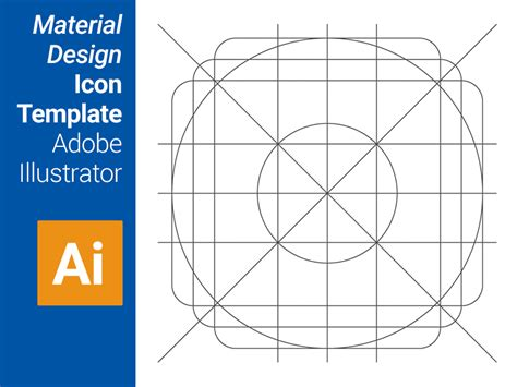 design icons in illustrator material design icon template adobe illustrator materialup