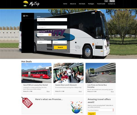 Bus Operator Ticket Booking Website Template