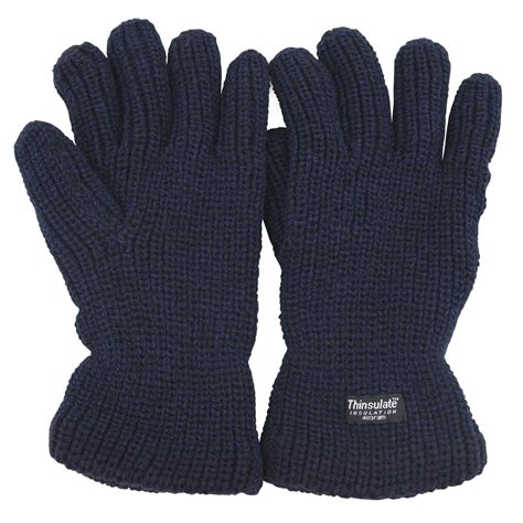mens knit gloves mens casual thinsulate heavy knit fisherman thermal winter