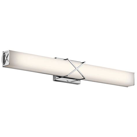 modern bathroom light fixture kichler 45658chled trinsic contemporary chrome led 32